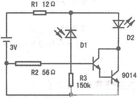 光敏三极管测量光强的电路图
