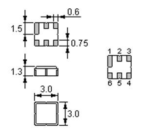 声表面谐振器,3030,r433.92m,滤波器